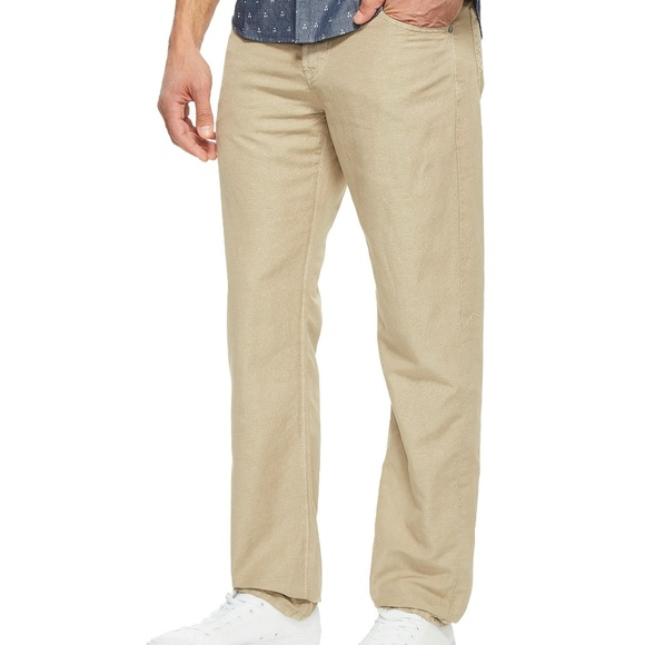 Pants Ag Adriano Goldschmied 38 X 32 Everett Tailored Casual Jeans Beige Pants Men's Clothing